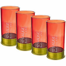 12 Gauge Shot Glass Set Four           Red