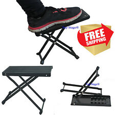 Folding Guitar Foot Stool Guitar Foot Rest Pedal Guitarist Adjustable Classical