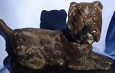 """Bronze West Highland Cairn Norwich Terrier Dog 12"""""""