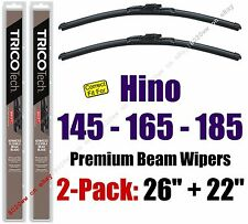 Wiper Blades 2-Pack Premium - fit 2005-2010 Hino 145 165 185 - 19260/220
