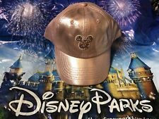 Disney Parks Exclusive Rose Gold Mickey Mouse Sequins Baseball Cap Hat New f84e75a023da
