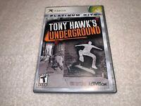 Tony Hawk's Underground (Microsoft Xbox, 2003) Platinum Hits Complete Excellent!