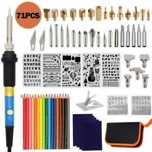 71PCS Brandmalerei Lötkolben Set, Brennstift Werkzeug für Holz Leder Gravieren