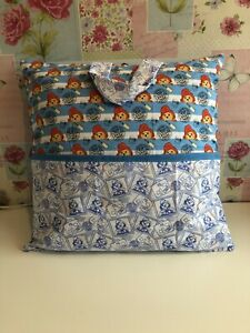 Reading Book Cushion/pillow, Personalised With Handle , Paddington Bear
