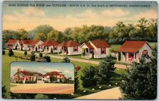 Gettysburg, Pennsylvania Postcard ROSE GARDEN TEA ROOM & Cottages Linen c1940s