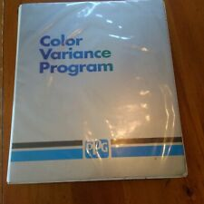 PPG VARIANCE PROGRAM CASE 20 PAINT CHIP RINGS TOYOTA FORD GM MAZDA 90-95