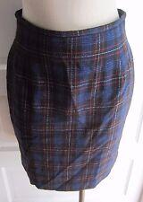 Womens 12P Talbots Petites Skirt Vintage USA 100% Wool Tartan Windowpane Plaid