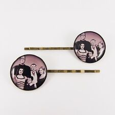 THE MUNSTERS HAIR SLIDES kitsch vintage retro horror goth lily herman munster