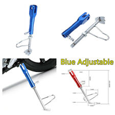 CNC Adjustable Non-slip Kickstand Motorcycle Leg Prop Side Stand255-295mm Blue