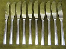 10 couteaux de table metal argenté design 1960 (dinner knives) OL
