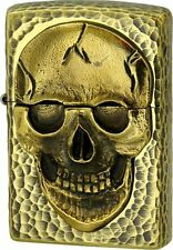ZIPPO Lighter NO200 HAMMERED SKULL A Brass 112071 Best Buy Gift  from Japan