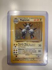 MAGNETON - Base Set - 9/102 - HOLO Rare - Pokémon Card - Unlimited Ed - FAIR