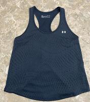 UNDER ARMOUR Women's UA Black Tank Top Size Small Heat Gear