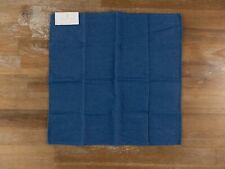 BRUNELLO CUCINELLI dark blue denim cotton pocket square authentic - NWT