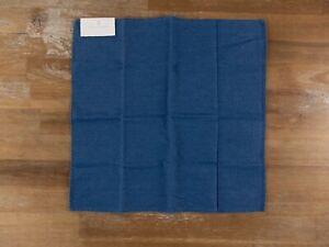 BRUNELLO CUCINELLI dark blue denim cotton pocket square authentic - NWT
