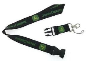 John Deere Lanyard NEW UK Seller Keyring ID Holder Strap Black Truck