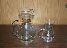 "2 - PRINCESS HOUSE HERITAGE ""CAT TAIL HANDLE"" PITCHERS"