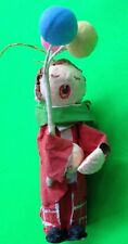 PAPER MACHE CHRISTMAS ORNAMENT OF CHILD HOLDING BALLOONS. CUTE!!!