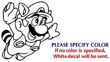 RACOON MARIO Game TV Movie Funny JDM nice Vinyl Sticker Decal Car Window Wall 6""