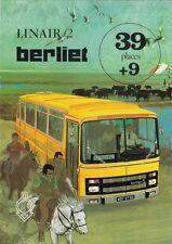 Berliet Linair 2 Coach 1972-73 French Market Foldout Sales Brochure