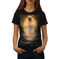 Wellcoda Holy Pug Animal Funny Womens T-shirt, Cute Casual Design Printed Tee