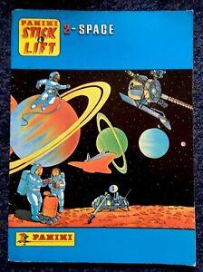 2 - Space Stick & Lift Vintage 1986 Panini Sticker Book NASA Astronomy RARE OOP