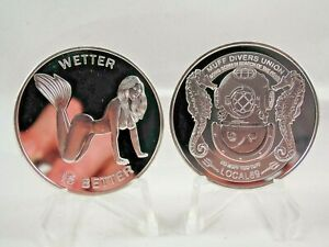 Muff Divers Union Local 69  No muff too tough Mirror Finish Adult novelty coin