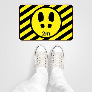 Social distancing Vinyl floor or wall stickers 2m spacing footprints x 3 9598