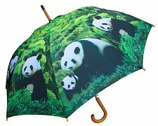"48"" Panda Bear Auto-Open Umbrella  - RainStoppers Rain/Sun UV Fashion"