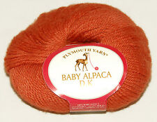 Plymouth Yarn - 100% Baby Alpaca - Orange Yarn - 125 yds 50g *Brand New *Peru