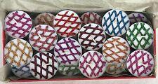 24 Unscented Henna & Colour Glitter Diamond Design Tea Light Gift Set Box