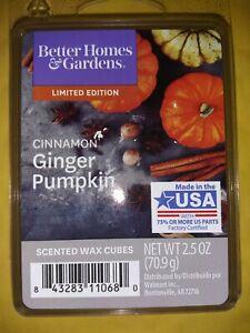 Better Homes & Gardens Cinnamon Ginger Pumpkin Scented Wax Melts 6 cubes 2.50 oz