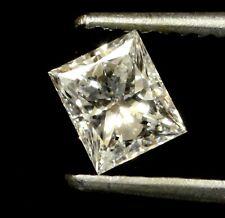EGL USA loose certified princess diamond .52ct I1 F 4.19X3.10mm estate
