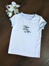 ADIDAS ❤️LOVE is in the AIR Tennisshirt Kurzarm T-Shirt Top weiß 10 134 140 NEUw
