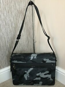 MICHAEL KORS KENT MESSENGER BAG GREY CAMOUFLAGE RETAIL BNWT