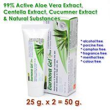 (25g*2)Burnova Gel Plus 99.9% Active Aloe, Centella, Cucumber &Natural Extracts