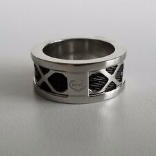 CHARRIOL Forever Steel Black PVD Ring Steel Color Size 8 1/4 NEW $210