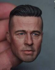 "Brad Pitt World War Z 1/6 Male Head Carving F 12"" Men Hot Action Figure Toys"
