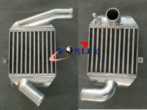 """Pair Aluminum INTERCOOLER FOR AUDI A4 B5 S4 RS4,A6 C5 2.7T BI-TURBO 2"""" In/outlet"""