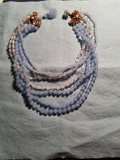 Vintage Miriam Haskell blue necklace