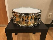 DW Collector's Series 5.5x14 Polished Bell Brass Snare w/Chrome Hardware