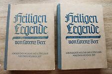2 Bd. Buch 1928 Heiligenlegende Lorenz Beer Bilder Kunst Lebensbilder Regensburg