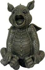 Gartendrachen gähnt Drachenfiguren Drachen Gargoyle Figuren Dragon Fantasy Deko