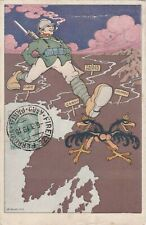 Guerre 14-18 CPA CARICATURE PROPAGANDE ANTI KAISER ITALIE RUBINO