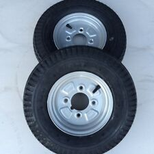 2x 4.80/4.00-8 4Ply 62M New High Speed Trailer tyres wheels 4 inch PCD READ DESC