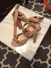 Talbots Leather Heels With Ankle Straps 7.5