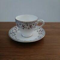 Vintage Bone China made in England footed Teacup and Saucer Set