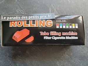 machine à cigarette + 1 briquet  ,tubeuse double avec 2 embout de rechange