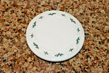 New ListingLongaberger Stay Warm Woven Traditions Retired Holly Berry Coaster / Lid For Mug