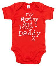 """Body de bebé """" Mi Mamá & I Love papá """"Body Cumpleaños Padre Día Regalo"""